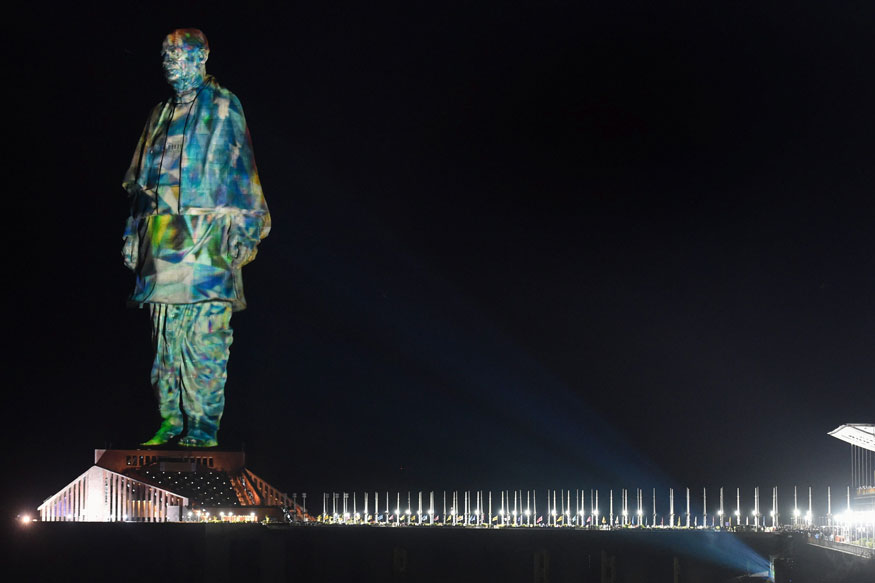 Statue of Unity Laser Show